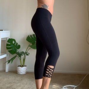 Athleta criss cross leggings
